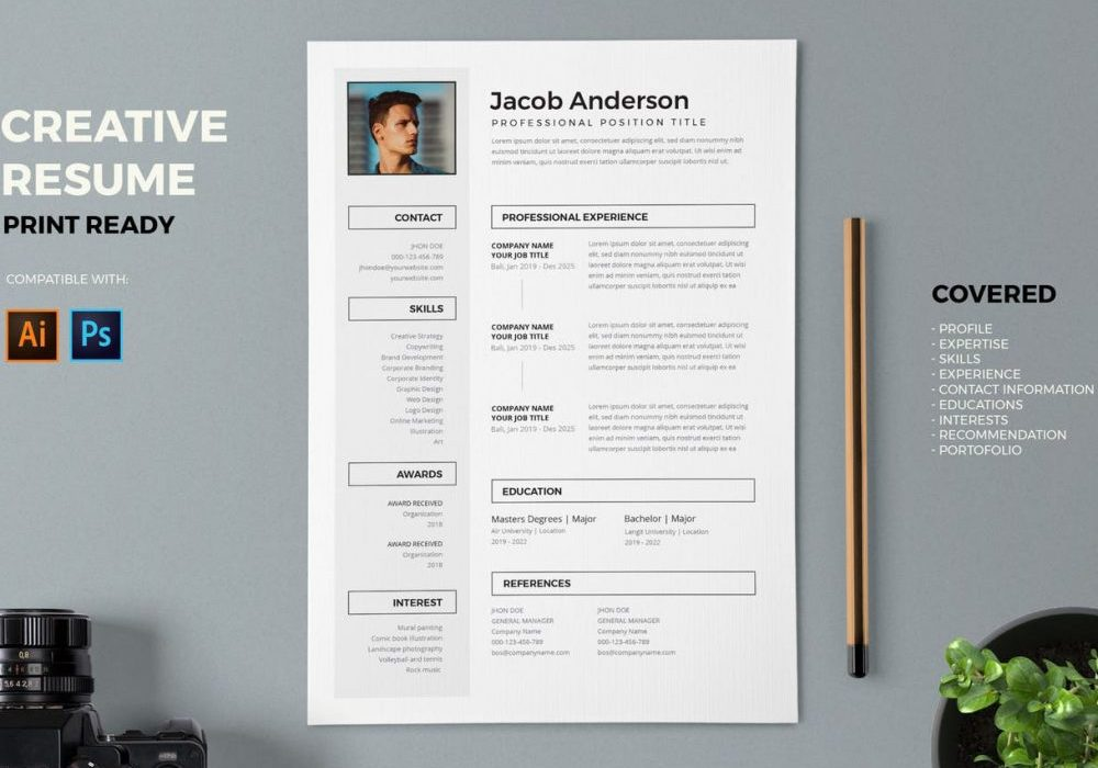 creative resume template free word maxresumes awesome templates professional 1000x700 Resume Awesome Resume Templates