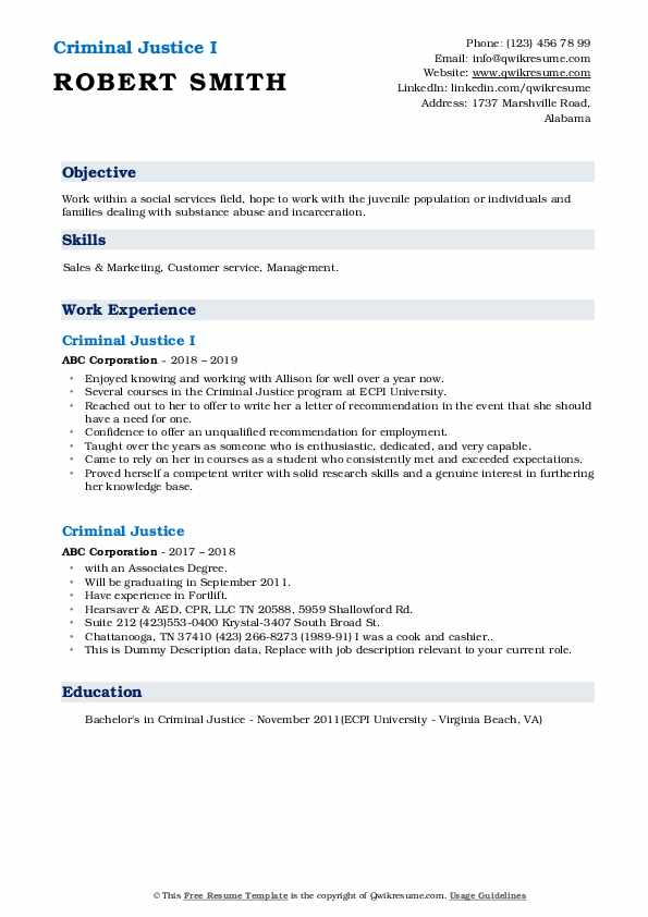 criminal justice resume samples qwikresume examples pdf curriculum specialist production Resume Criminal Justice Resume Examples