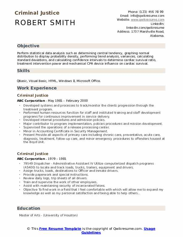 criminal justice resume samples qwikresume normal objective for pdf retail reconciliation Resume Normal Objective For Resume