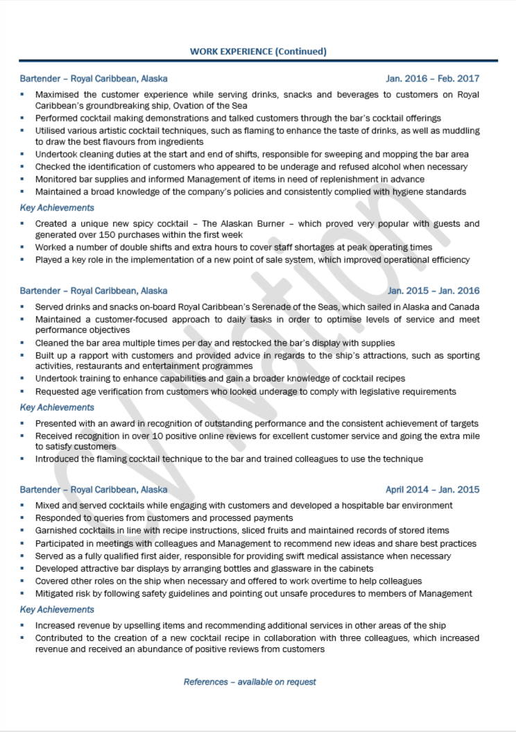 cruise ship cv example writing guide nation objective resume tesol teacher education on Resume Cruise Ship Objective Resume