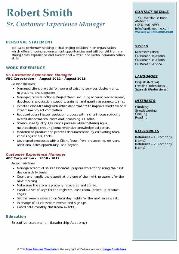 customer experience manager resume samples qwikresume service pdf content editor sample Resume Service Experience Resume