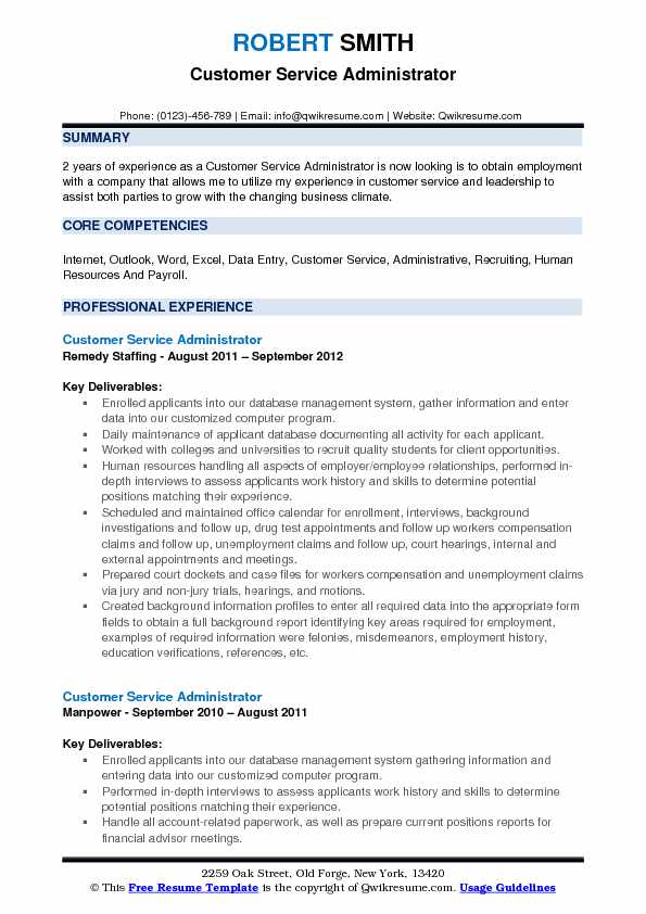 customer service administrator resume samples qwikresume action words for pdf personal Resume Resume Action Words For Customer Service