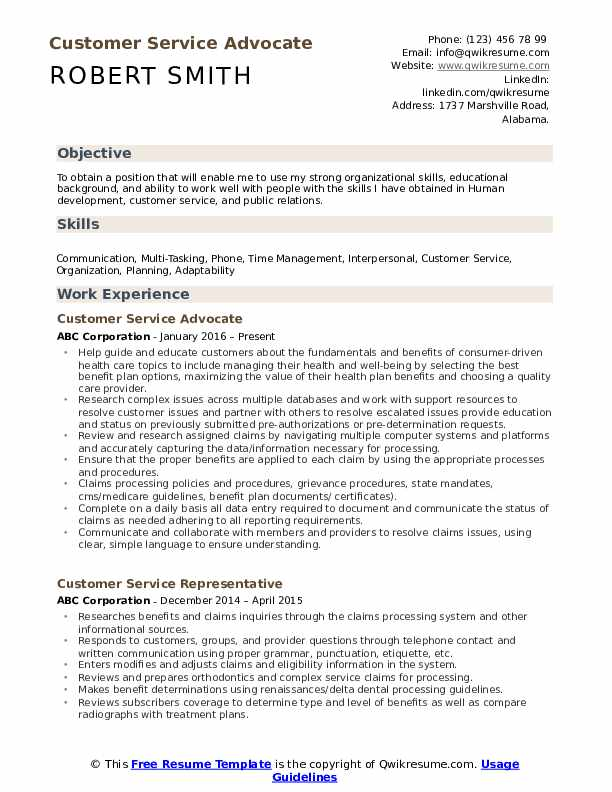 customer service advocate resume samples qwikresume objective examples for pdf theatre Resume Objective Examples For Customer Service Resume