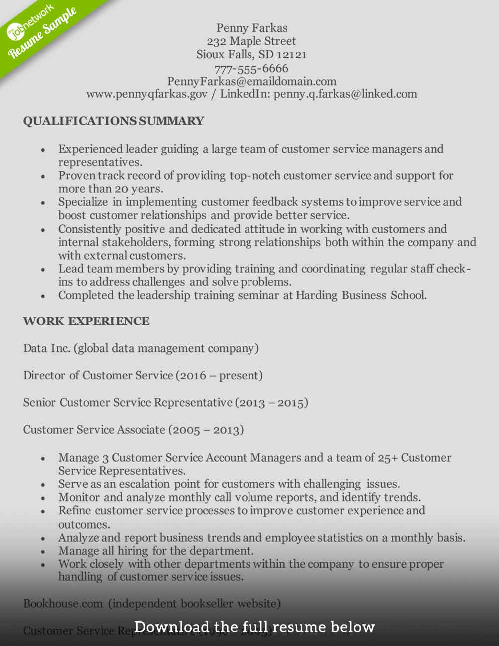 customer service resume to write the perfect one examples bullet points experienced Resume Customer Service Resume Bullet Points