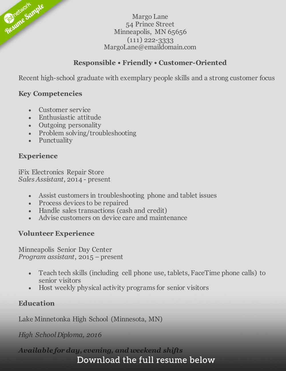 customer service resume to write the perfect one examples experience entry level1 make Resume Service Experience Resume