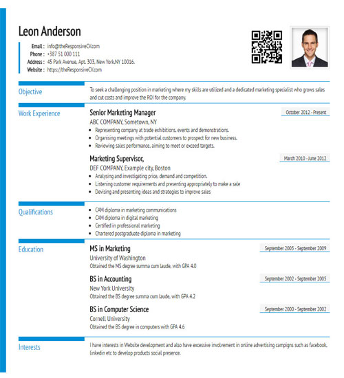 cv builder with free resume and qr code maker linkedin on comforta template subway duties Resume Linkedin Qr Code On Resume