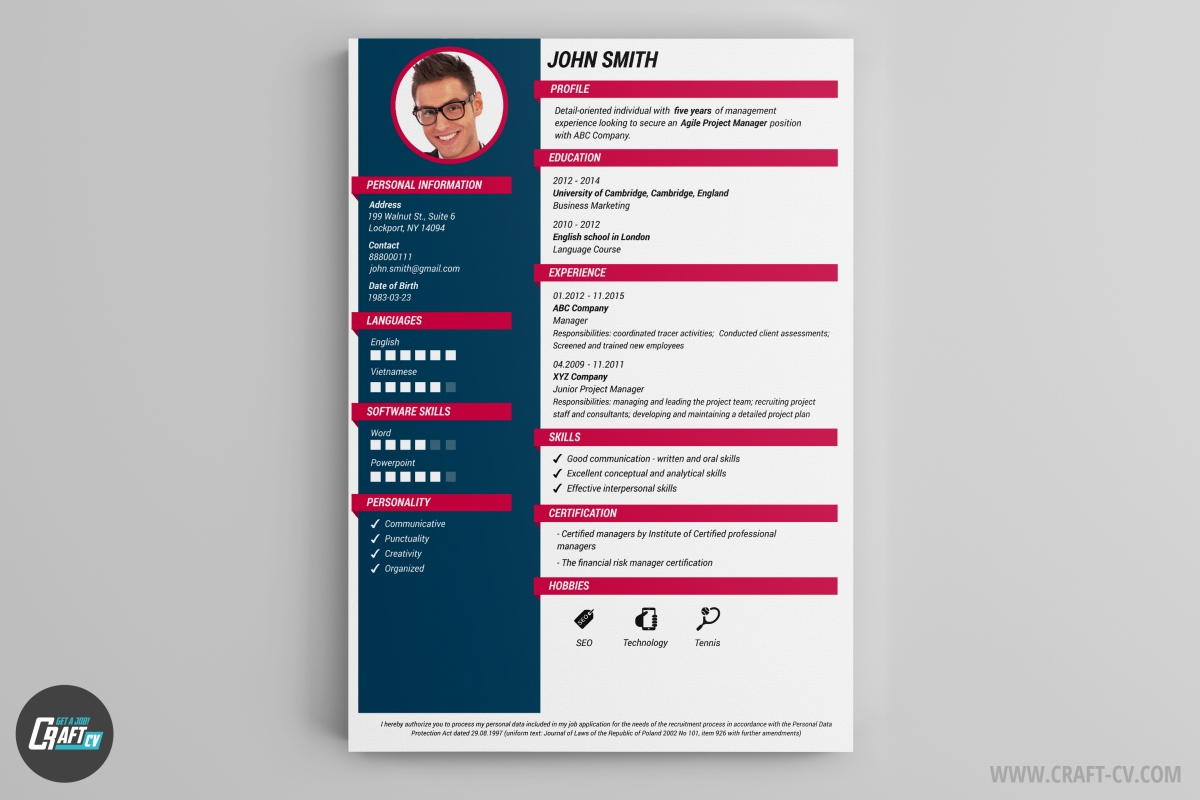 cv maker professional examples builder craftcv interactive resume samples production Resume Interactive Resume Samples