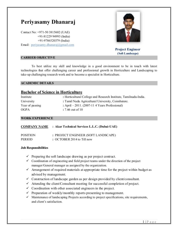 cv periyasamy dhanaraj sc horticulture project engineer soft manager resume thumbnail Resume Horticulture Resume Template