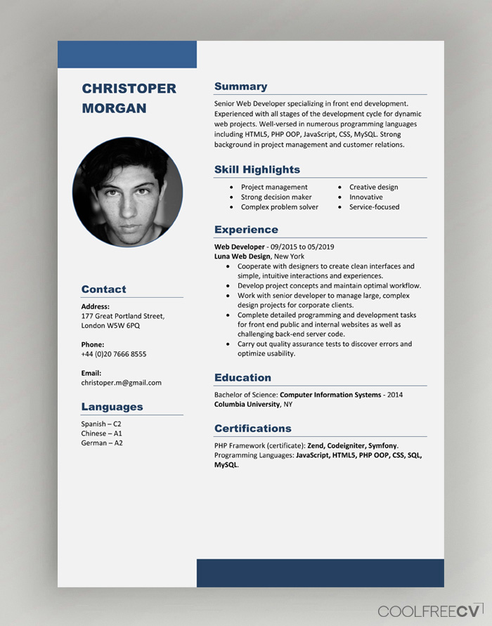 cv resume templates examples word best template photo hire writer linkedin quick builder Resume Best Resume Templates Word