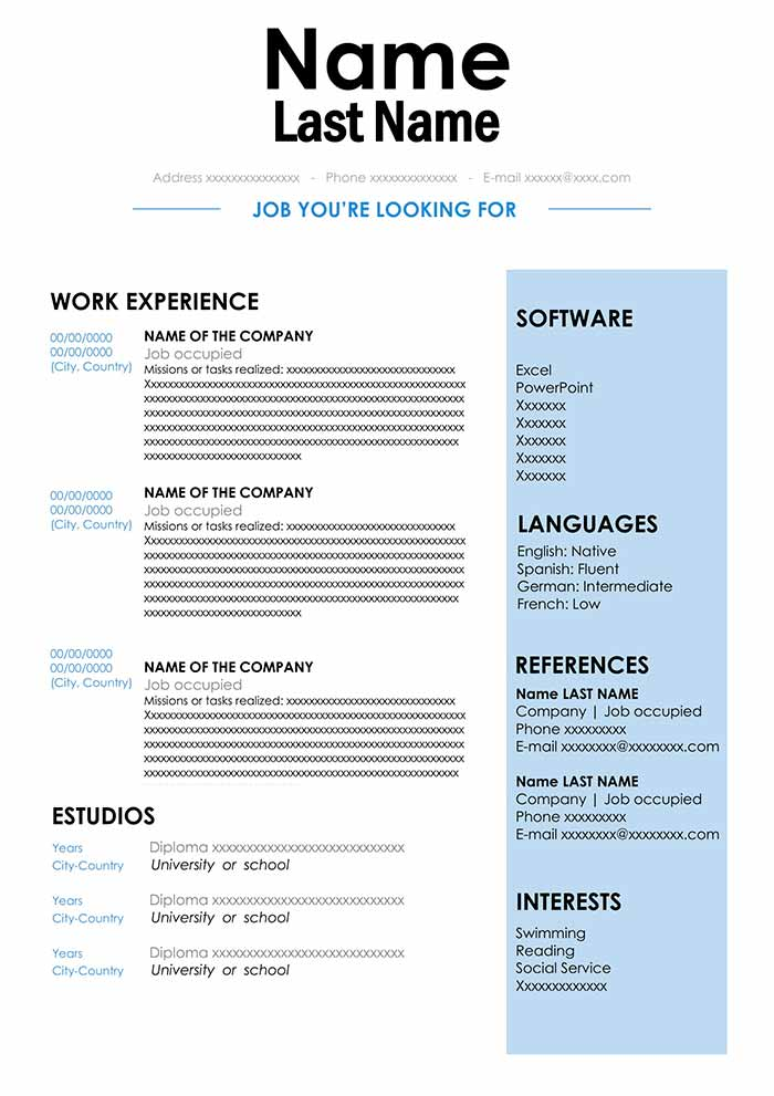 cv sample in format for word free resume best document account manager responsibilities Resume Best Resume Document Format