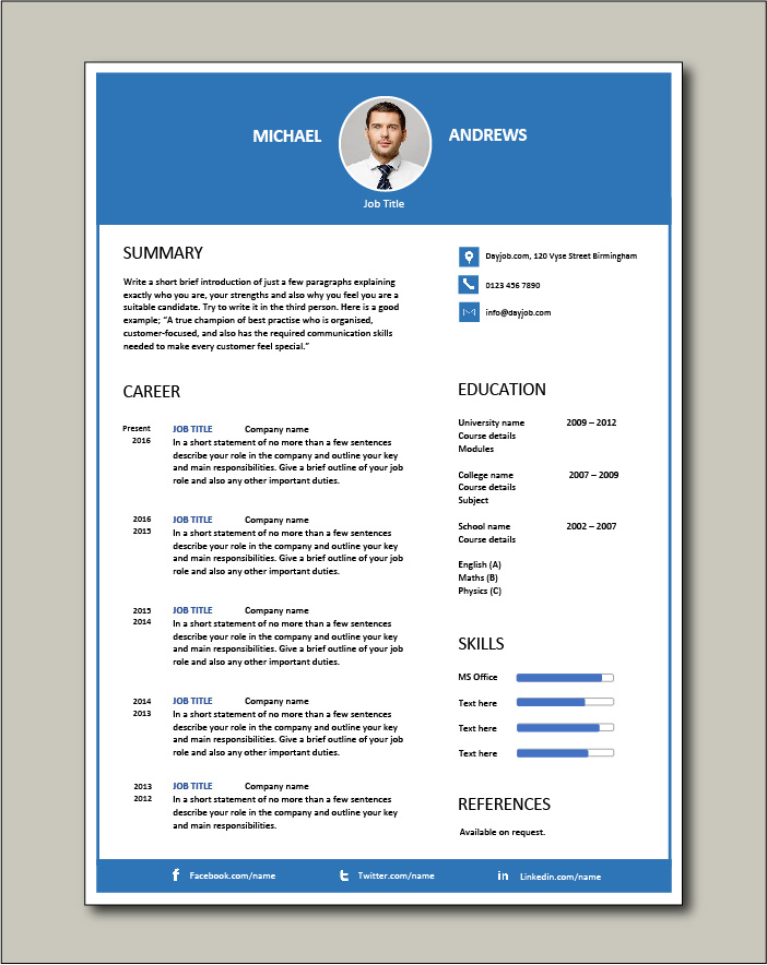 cv templates impress employers current resume free template special education Resume Current Resume Templates 2015