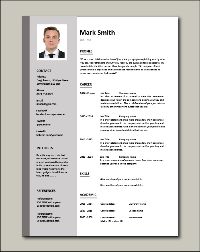 cv templates impress employers free resume template emplate pic model agent professional Resume Free Resume Template Download 2020