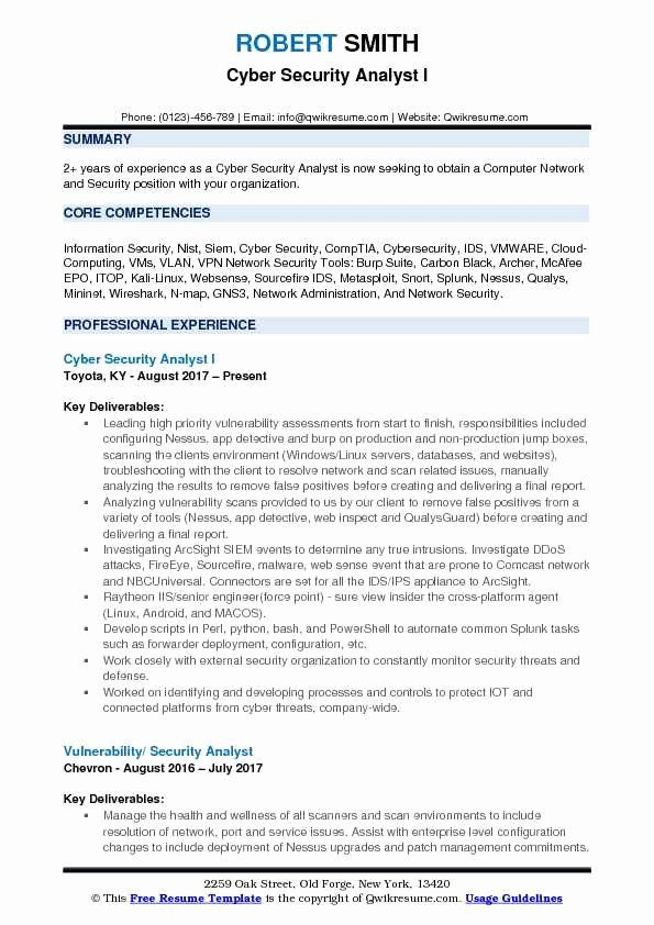 cyber security resume example unique analyst samples examples information sample job Resume Information Security Analyst Sample Resume