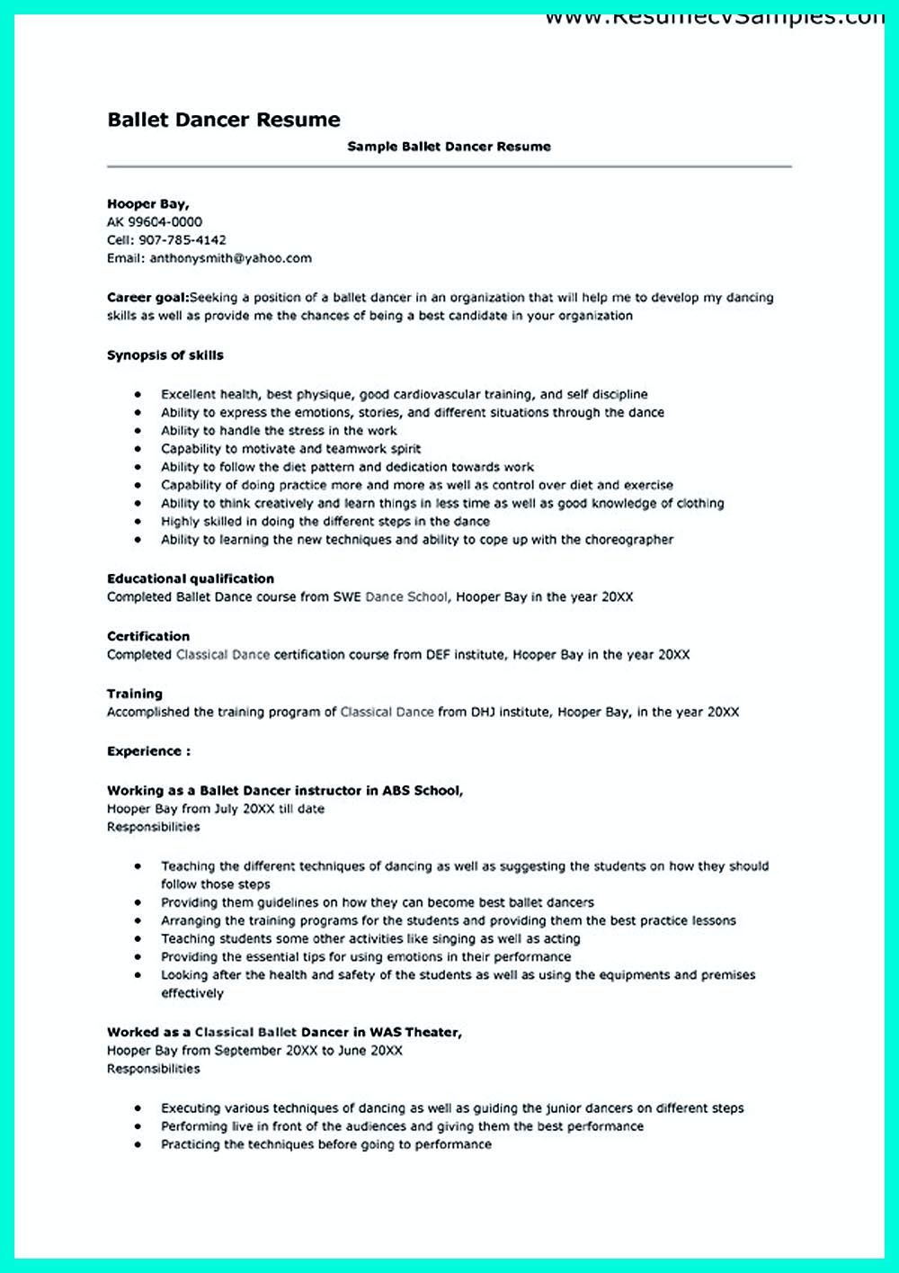 dance resume can used for both novice and professional dancer most job of has minimum Resume Resume Format For Classical Dance Teacher