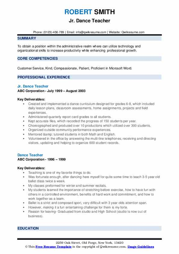 dance teacher resume samples qwikresume format for classical pdf personal interests Resume Resume Format For Classical Dance Teacher