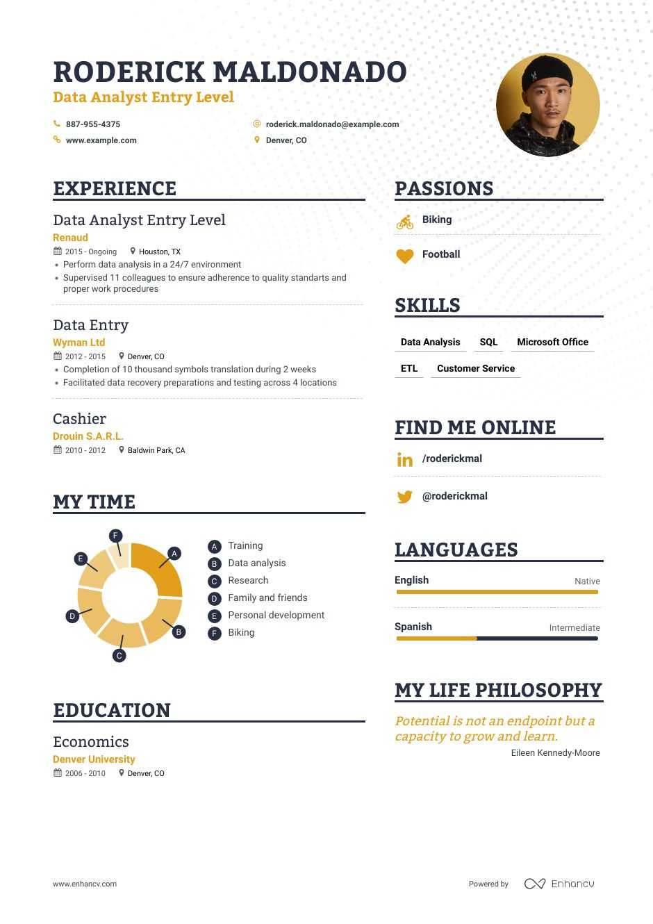 data analyst entry level resume examples inside to tips enhancv summary for millennial Resume Data Analyst Summary For Resume