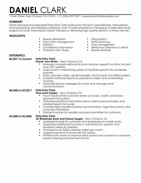 data entry specialist resume unique best clerk example customer service examples taxi Resume Data Entry Clerk Resume