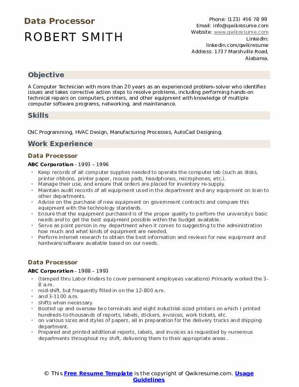 data processor resume samples qwikresume processing examples pdf college layout example Resume Data Processing Resume Examples
