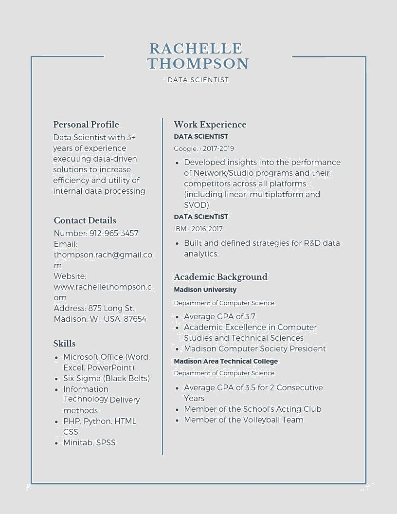data scientist resume samples templates pdf resumes bot template examples processing Resume Data Processing Resume Examples