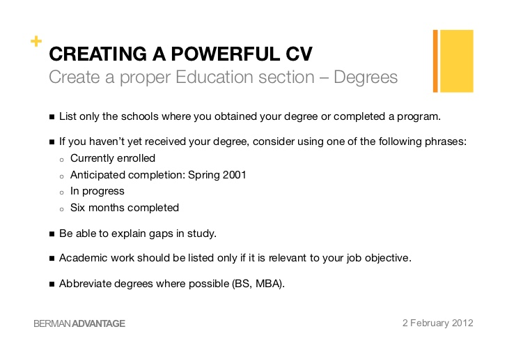 degree anticipated on resume received creating powerful cv cover letter catering manager Resume Degree Received On Resume