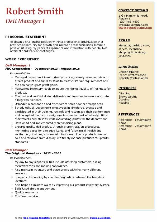 deli manager resume samples qwikresume skills for pdf college student template microsoft Resume Deli Manager Skills For Resume