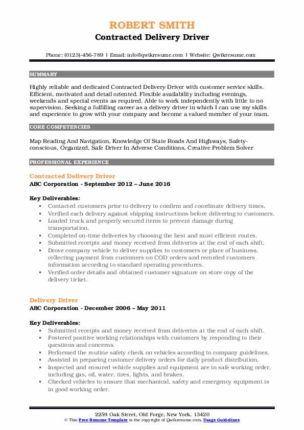 delivery driver resume samples qwikresume skills for pdf free search sites interaction Resume Skills For Delivery Driver Resume