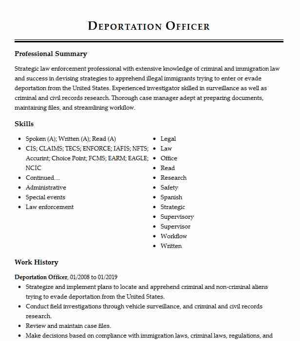 deportation officer resume example immigration customs enforcement ankeny police template Resume Deportation Officer Resume