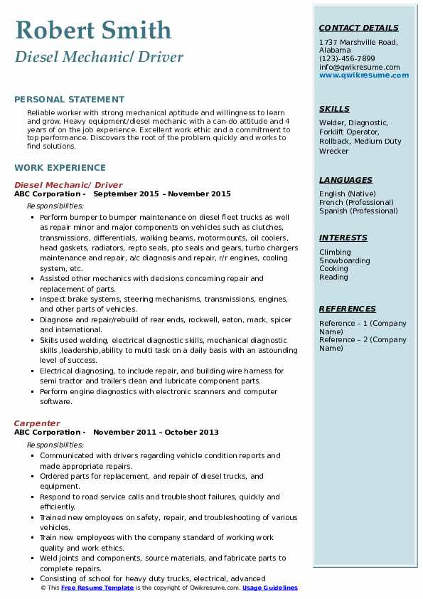 diesel mechanic resume samples qwikresume objective pdf product manager review Resume Diesel Mechanic Resume Objective