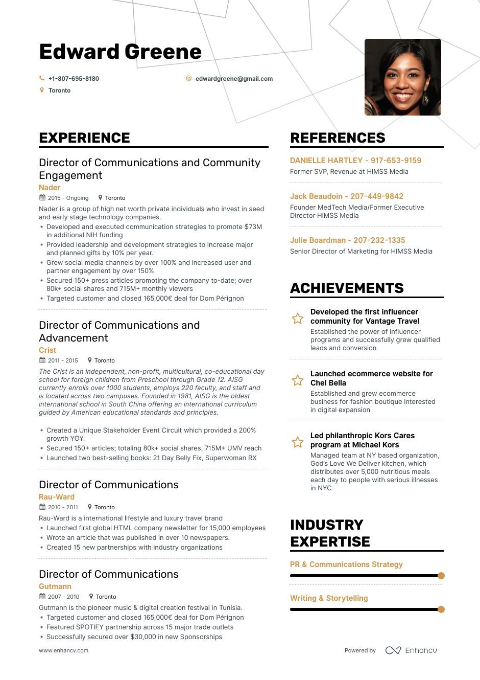 director of communications resume example and guide for teacher examples good references Resume Communications Major Resume