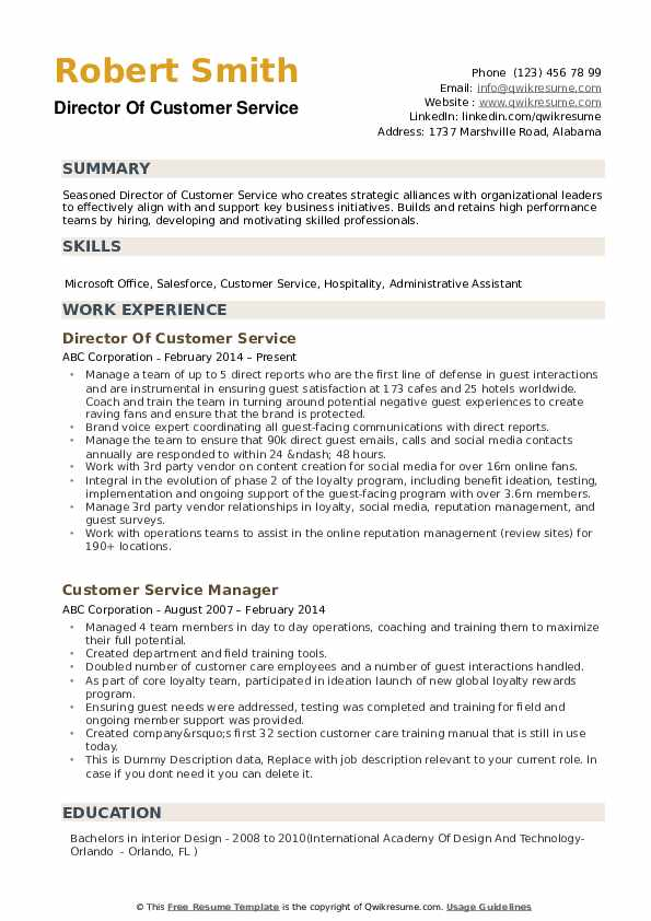director of customer service resume samples qwikresume profile summary pdf oracle access Resume Resume Profile Summary Customer Service