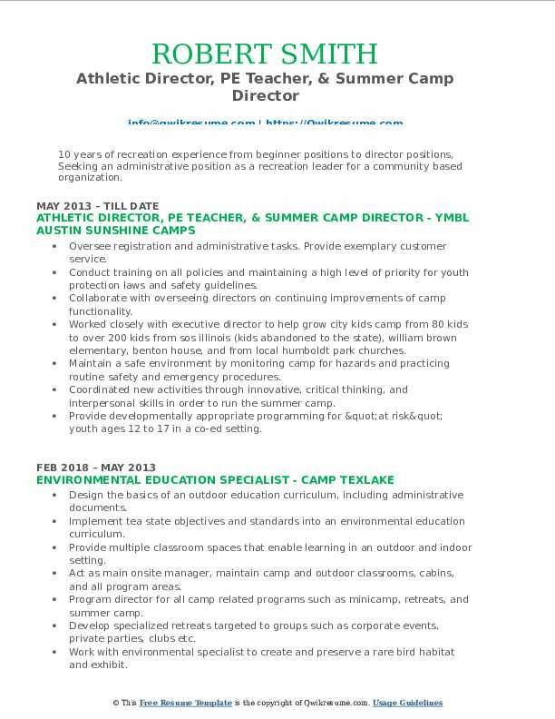 director resume samples qwikresume recreation pdf millennial targeted login ministry Resume Recreation Director Resume