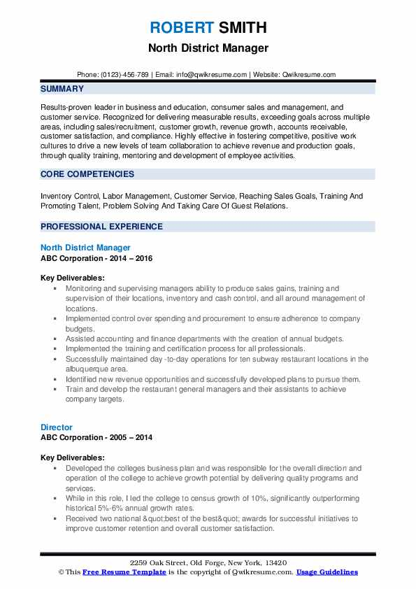 district manager resume samples qwikresume skills pdf delivery helper contact details on Resume District Manager Skills Resume