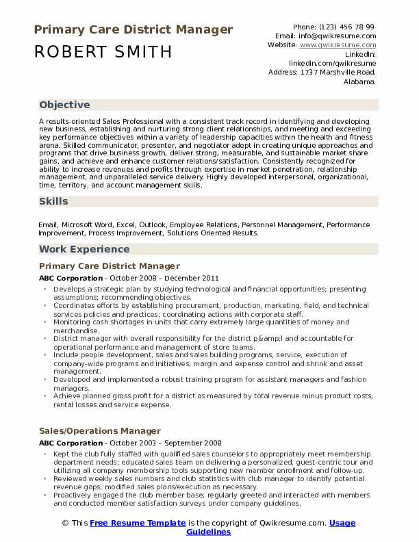 district manager resume samples qwikresume skills pdf technical writer summary template Resume District Manager Skills Resume