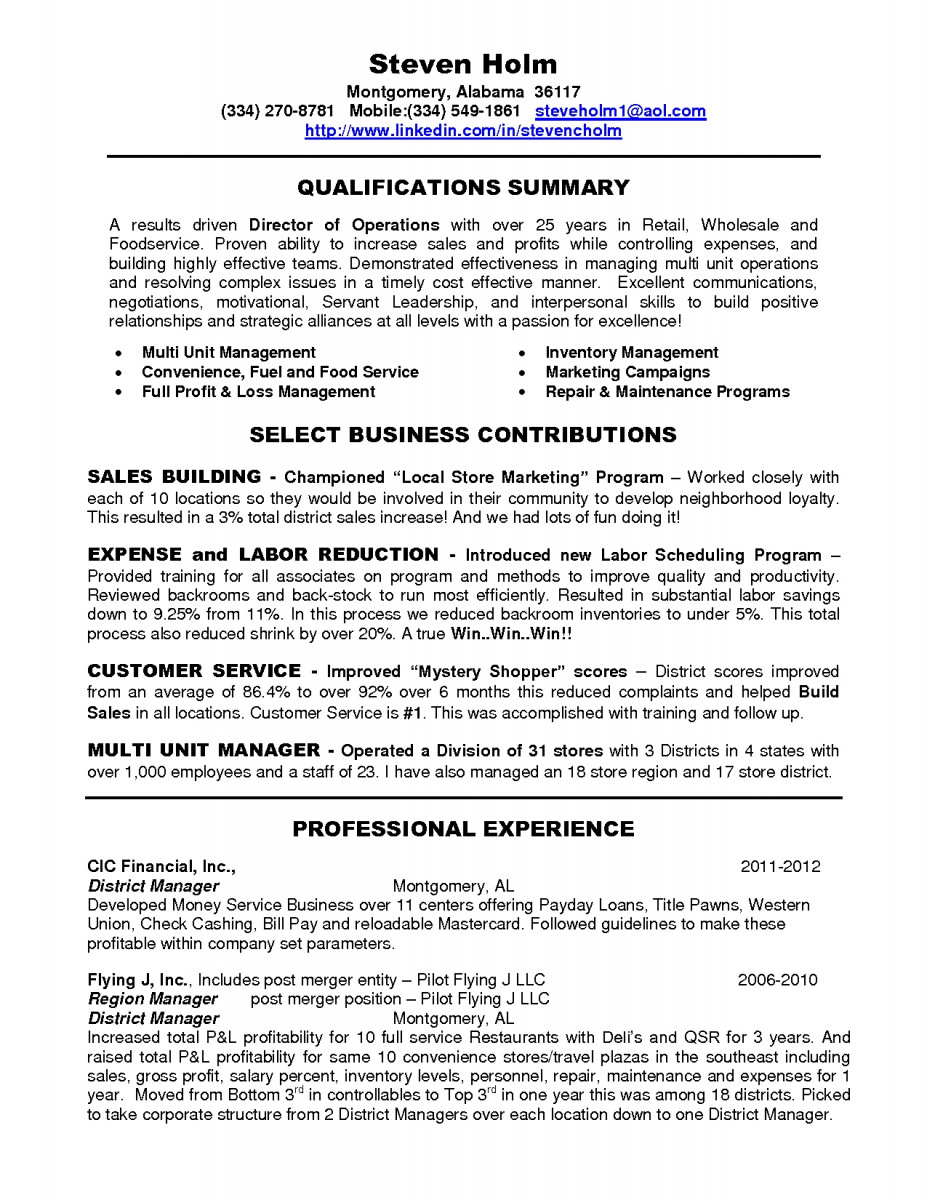 district manager resume skills example bachelor of science sample category production Resume District Manager Skills Resume