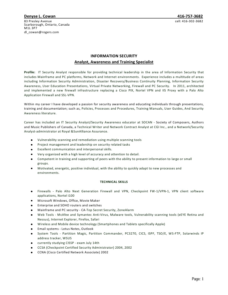 dl cowan resume july checkpoint firewall summary examples entry level good software Resume Checkpoint Firewall Resume