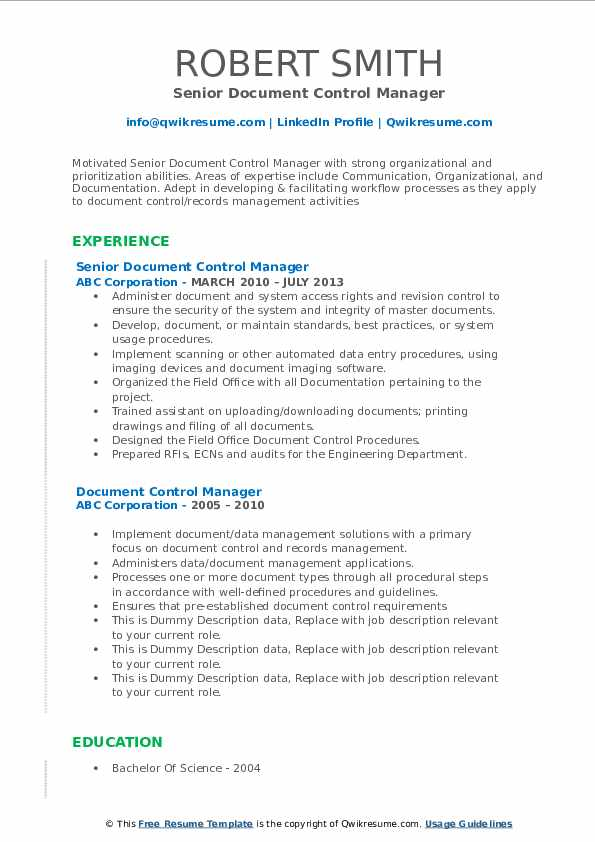 document control manager resume samples qwikresume sample pdf of medical assistant Resume Document Control Manager Resume Sample