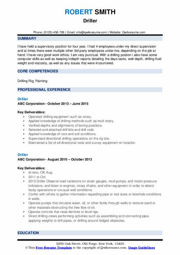 driller resume samples qwikresume oil rig template pdf creative photographer system admin Resume Oil Rig Resume Template