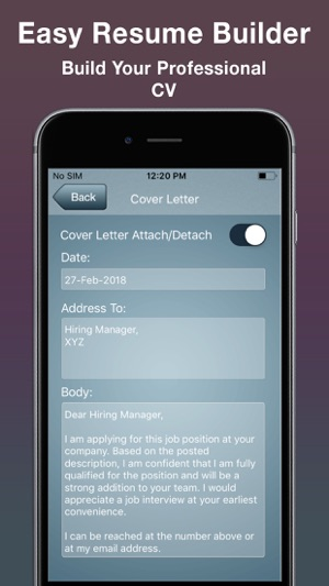 easy resume builder cv maker on the store attach iphone 300x0w glever student help cnc Resume Attach Resume On Iphone