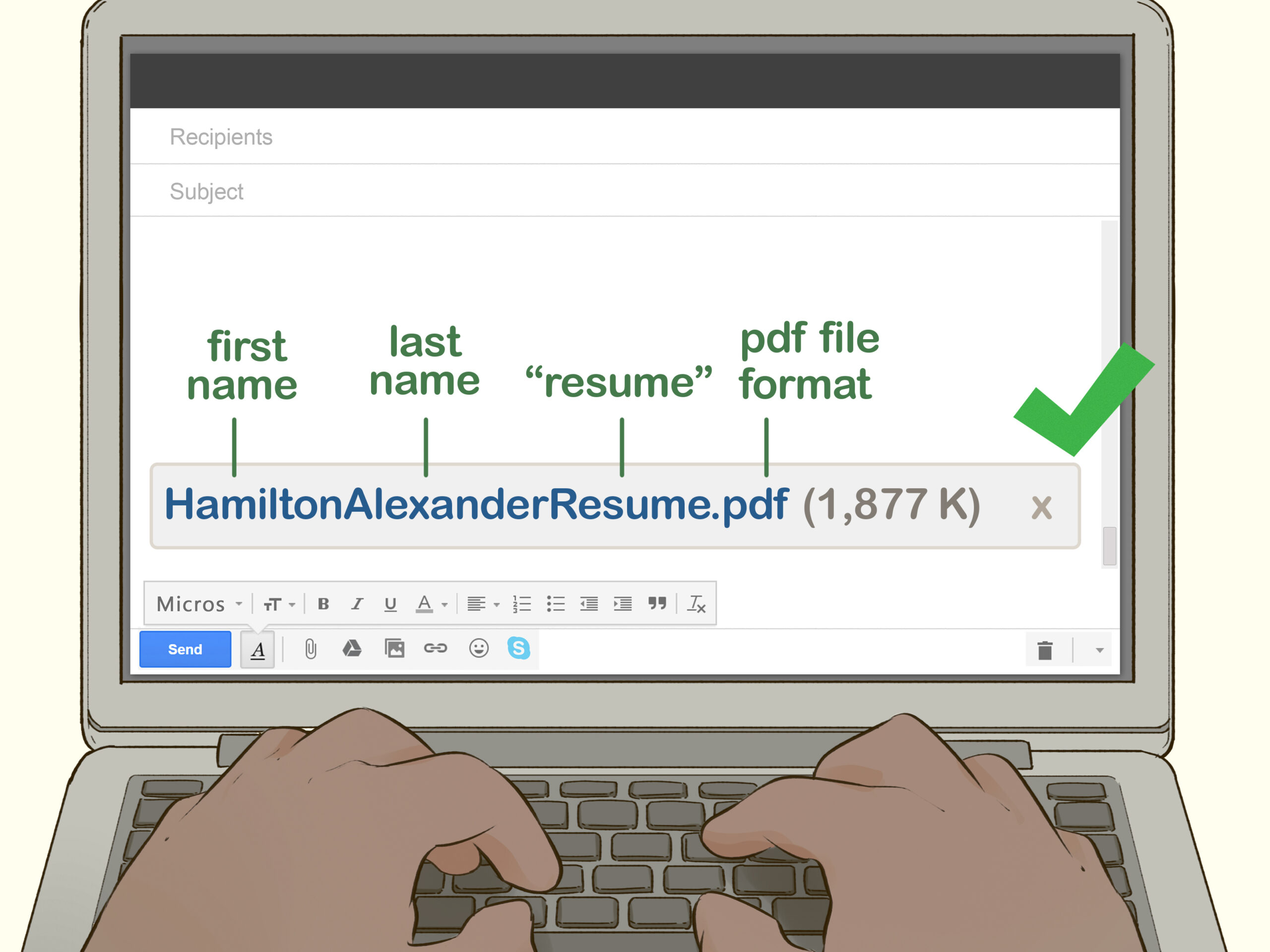 easy ways to write subject line when sending your cv by email resume via step marine Resume Sending Resume Via Email
