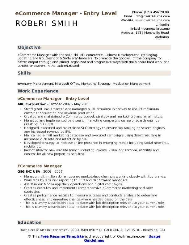 ecommerce manager resume samples qwikresume skills pdf type up for indeed federal writers Resume Ecommerce Skills Resume
