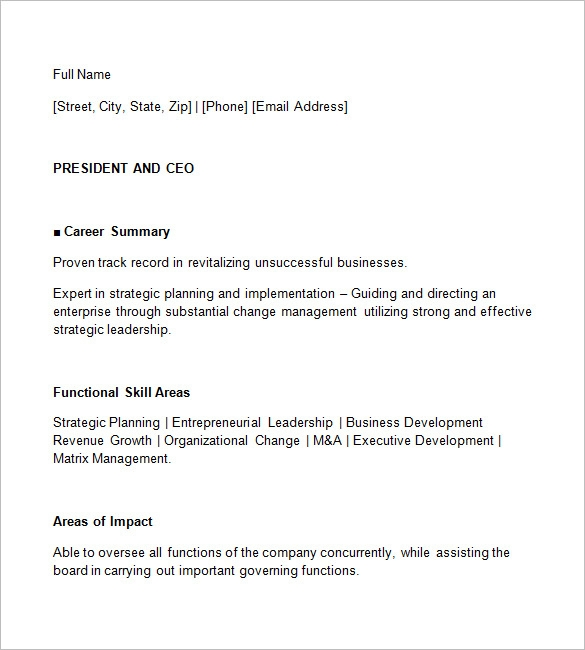 editable ceo resume template formats graphic free templates idea costume assistant well Resume Free Ceo Resume Templates