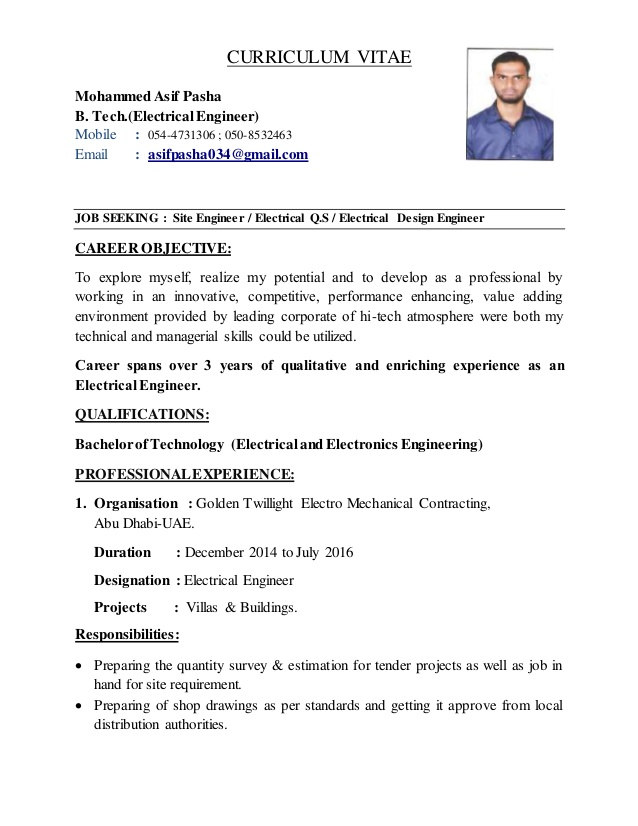 electrical engineer cv career objective for electronics resume administrative coordinator Resume Career Objective For Electronics Engineer Resume