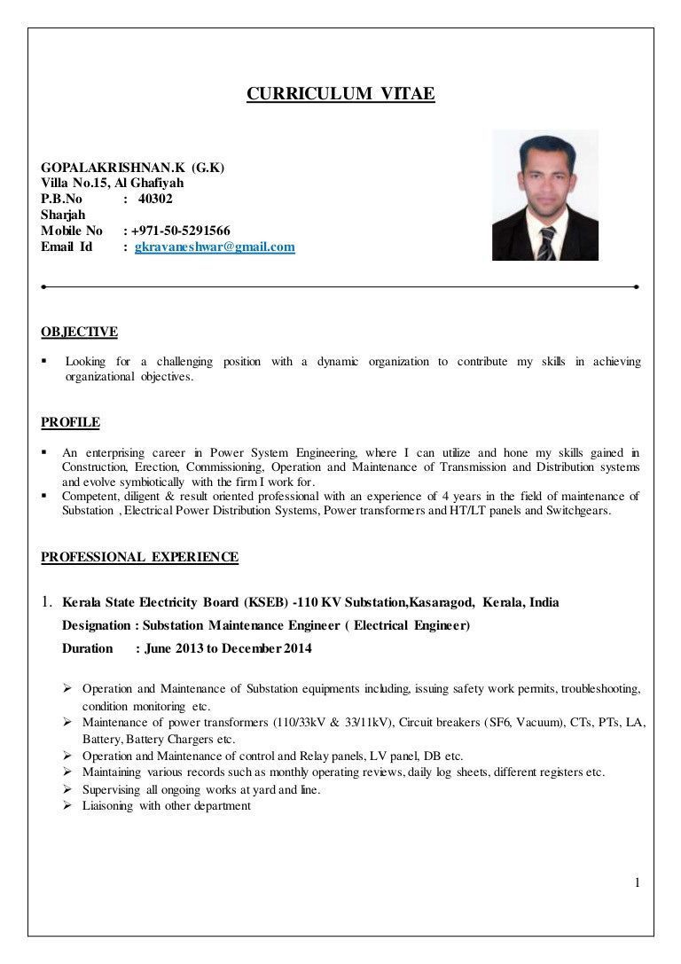electrical engineering resume examples high engineer cv of special electr job format Resume Career Objective For Electronics Engineer Resume