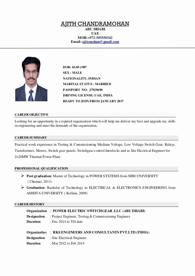 electrical engineering resume objective fresh engineer cv site project no experience Resume Electrical Testing And Commissioning Engineer Resume