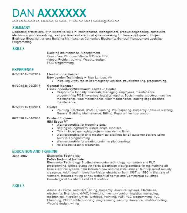 electronic technician resume examples mryn ism electronics skills assisted living Resume Electronics Skills Resume