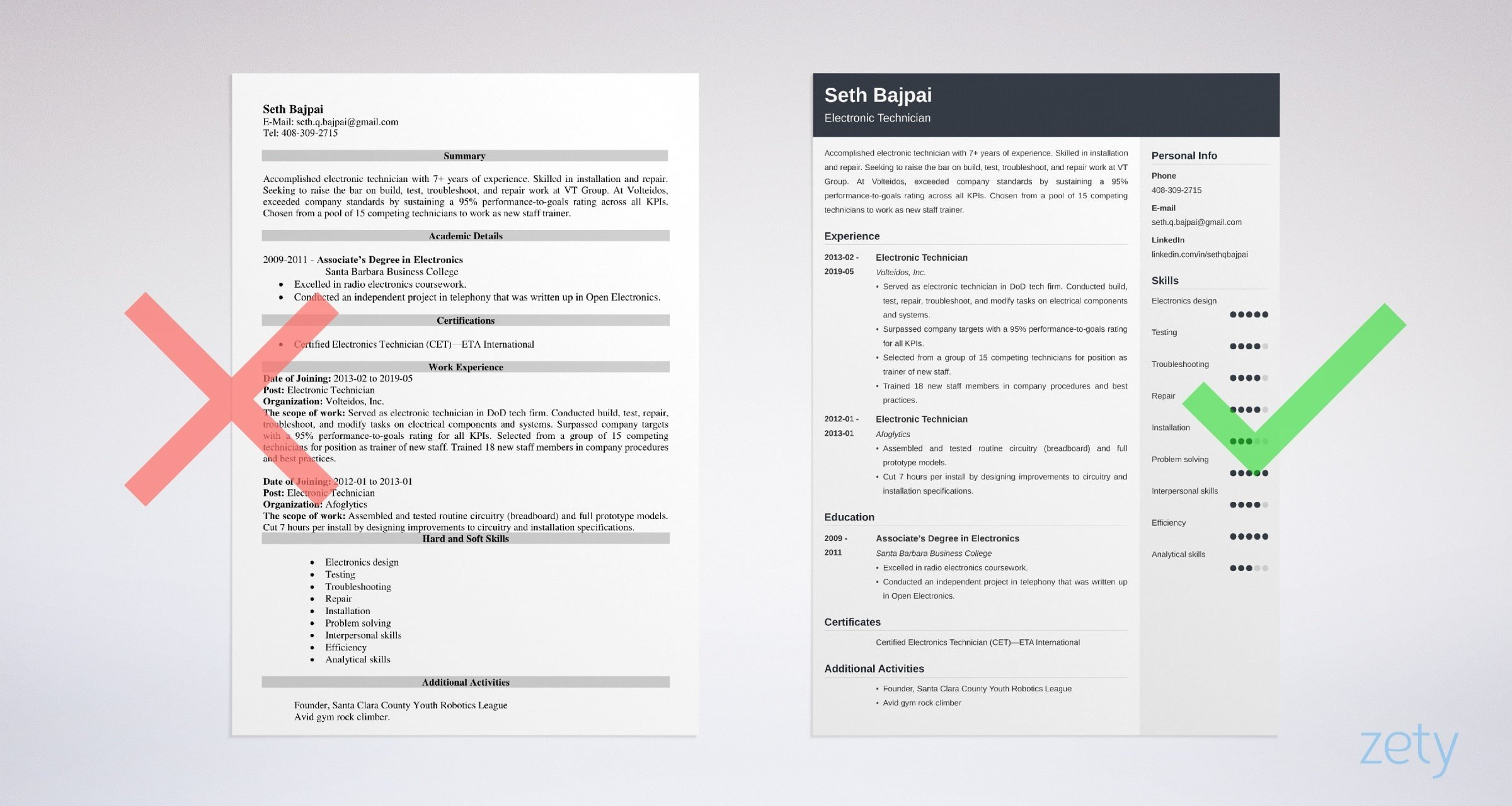 electronic technician resume sample guide electronics skills example objective for Resume Electronics Skills Resume