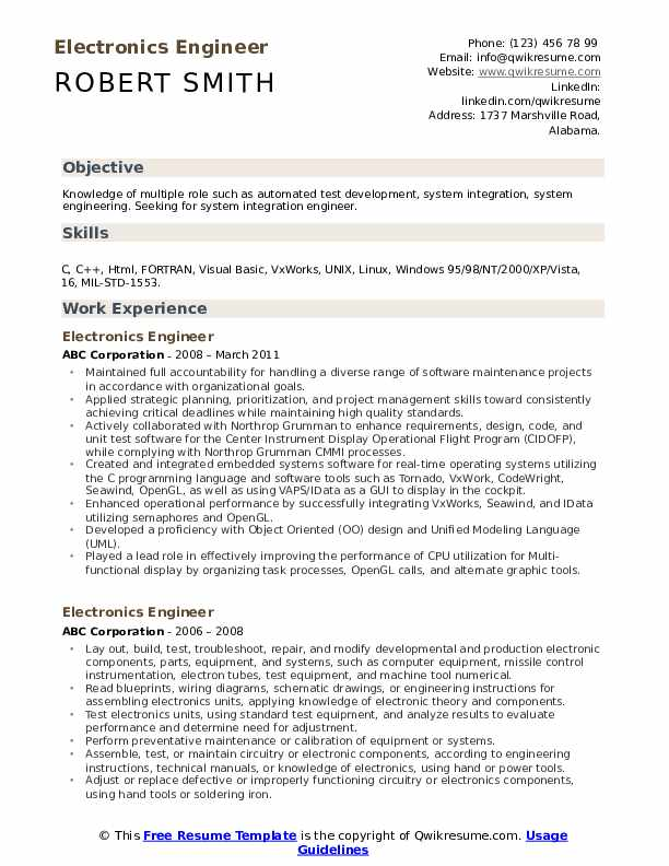 electronics engineer resume samples qwikresume career objective for pdf system experience Resume Career Objective For Electronics Engineer Resume