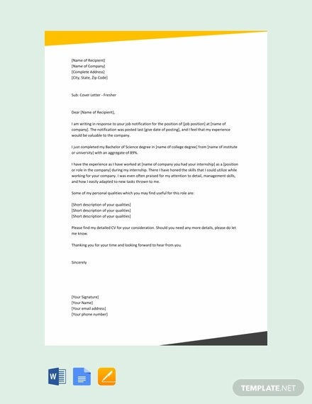 email cover letter templates free sample example format premium resume sheet for fresher Resume Resume Cover Sheet Example
