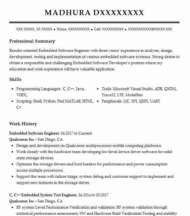 embedded software engineer resume example converged access inc linux device driver Resume Linux Device Driver Developer Resume