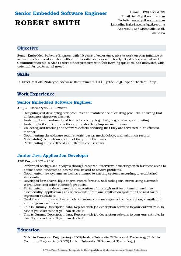 embedded software engineer resume samples qwikresume good objectives for engineers pdf Resume Good Resume Objectives For Software Engineers